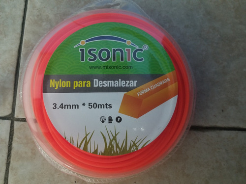 Nylon Desmalezadora Cuadrado 3.4mm 50 Mts