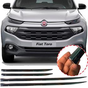 Friso Inferior Cromado Fiat Toro 4 Peças Modelo Original