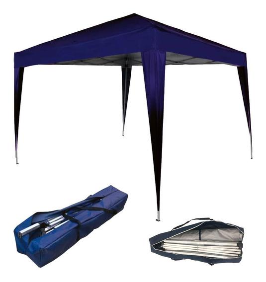 Tenda Sanfonada Gazebo Dobrável 3x3m Azul