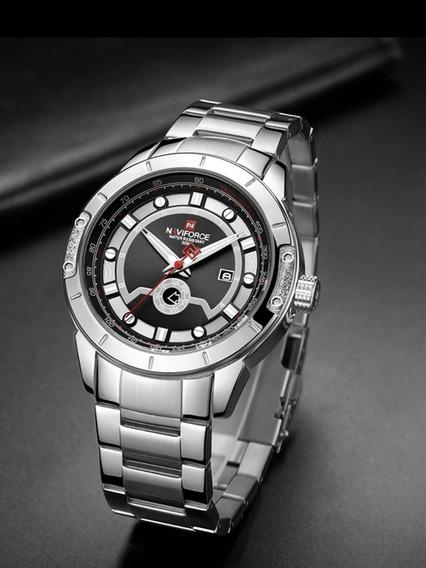 Relógio Naviforce Aço Inoxidável Modelo 9166