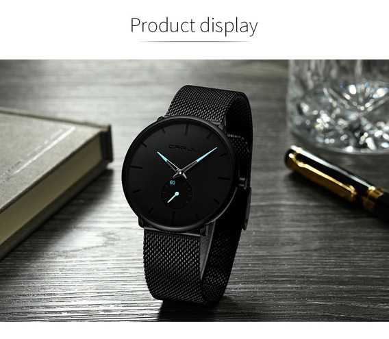 Relógio Masculino Crrju Ultra Fino Original Quartz 50%off