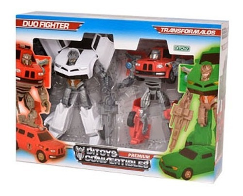 Auto Convertible Transformers Duo Fighter Robot Ditoys Orig