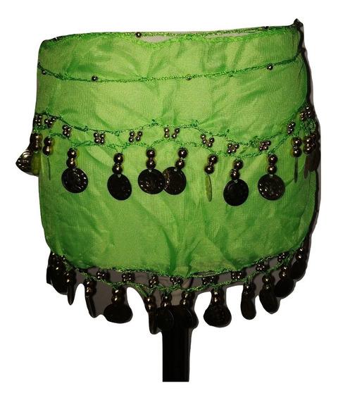 Caderín Nena Danza Árabe Gasa Crochet 2 Filas Monedas