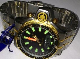 Relogio Aqualand Jp2000 Original Atlantis Aço Serie Ouro