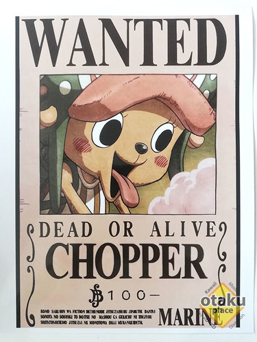 Poster One Piece Mediano Wanted De Chopper