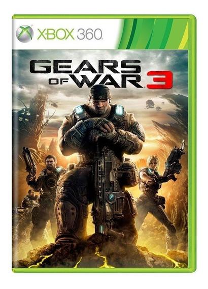 Gears Of War 3 Xbox 360 Mídia Física Pronta Entrega