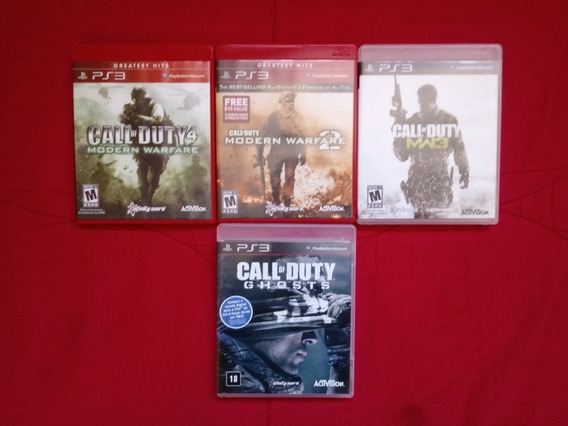 Trilogia Call Of Duty Mw + Ghosts Ps3
