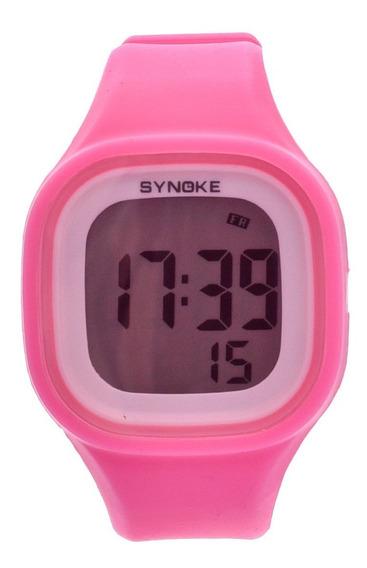 Relógio De Silicone Masculino Feminino Digital