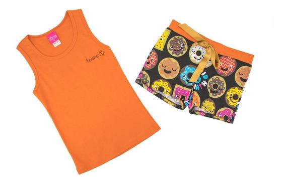 Pijama Short Y Blusa Para Niña En Oferta 2841