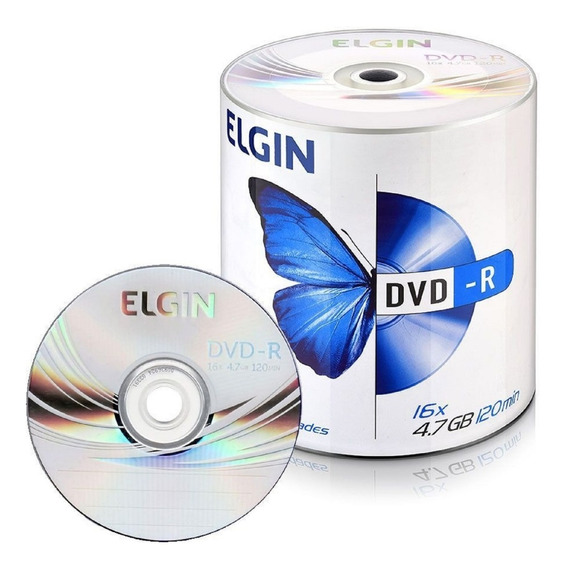 200 Dvd-r Elgin Logo 16x 4.7gb- (nao Grava Games)