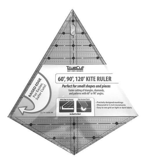 Regla Tipo Barrilete Kite Ruler De 60, 90 Y 120 Grados Truec