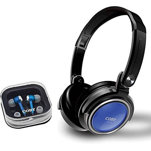 Kit C/ Headphone Dobrável E Earphone C/ Encaixe De Silicone