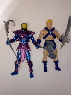 Par De Figuras Muñecos De He-man Y Esqueletor Skeletor