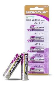 Pilha 12v A27 Controle Remoto Bateria Golden 05 Pilhas Fina