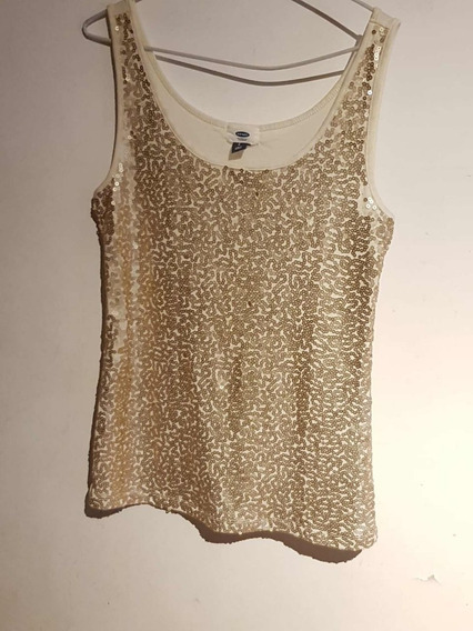 Musculosa Old Navy Color Dorada Talle L