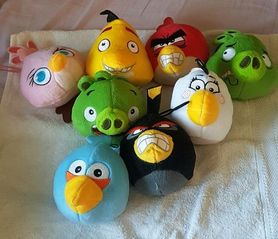 Coleção Com 8 Pelúcias Angry Birds (mac Donalds)