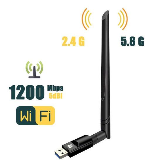 Placa De Rede Sem Fio Usb3.0 11ac1200m Wireless Wifi Preto
