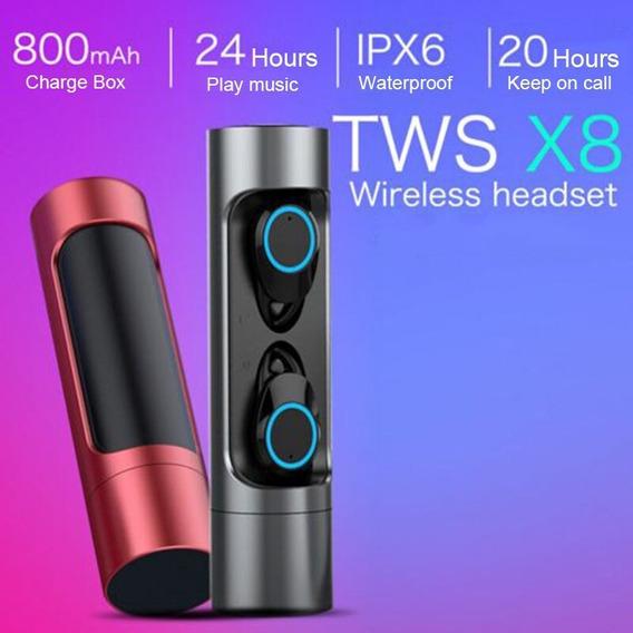X8 Bluetooth 5.0 Sem Fio Fones De Ouvido Tws Mini Fone In- O