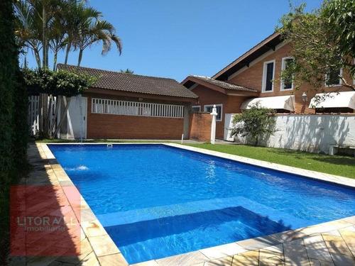 Casa Com Piscina,  5 Dormitórios À Venda, 209 M² Por R$ 750.000 - Cibratel Ii - Itanhaém/sp - Ca1625