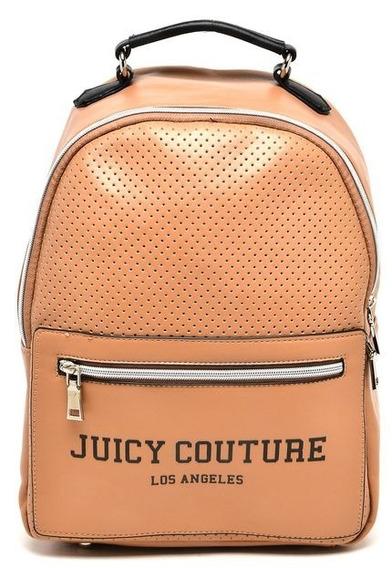 Bolsa Mochila Juicy Couture Perfuros Bege