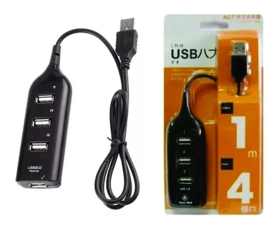 Kit Adaptador Extensor 4 X 1 - Porta Usb + Cabo Tipo C