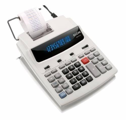 Calculadora De Bobina Elgin 12 Dígitos Relógio Mr 6124