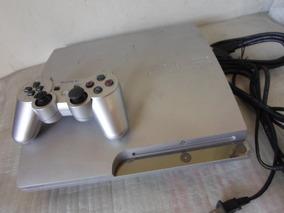 Playstation 3 Slim Prata + Controle Prata Original + 2 Jogos
