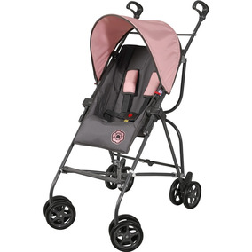 Carrinho De Bebê Galzerano Capri - Grafite/rosa