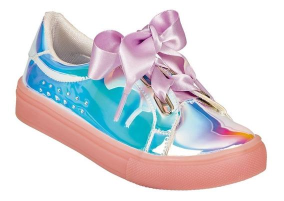 Calzado Zapato Tenis Moda Mujer Dama Tornasol Charol Liston
