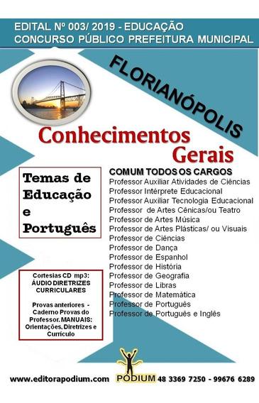 Apostila Concurso Educação Florianópolis Comum Todos 2019