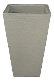 Vaso Decorativo De Planta Flor Coluna Quadrada 32x21x54