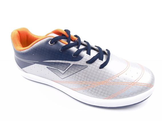 Tenis Infantil Masculino Bouts Prata/marinho/laranja