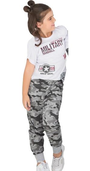 Conjunto Deportivo Camisa Manga Corta Y Jogger Sudadera Niña