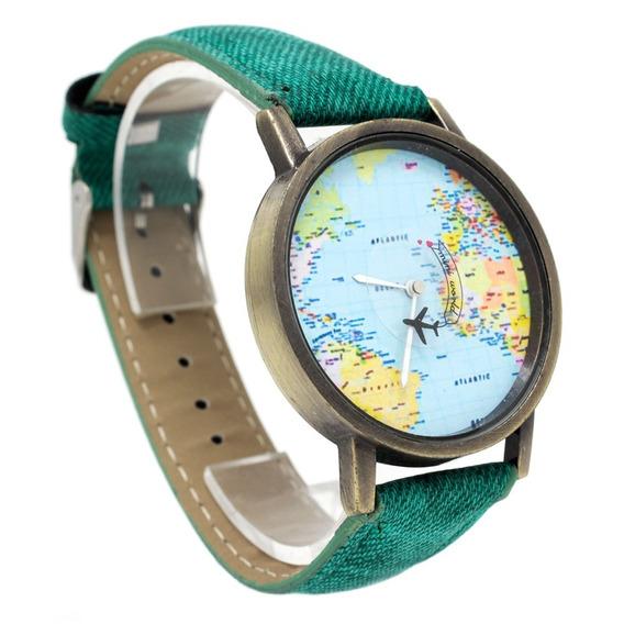 Reloj Para Hombre Dama O Niño Mundo Y Avion Economico