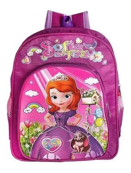 Mochila Infantil Princesa Sofia Costas Pink Minina