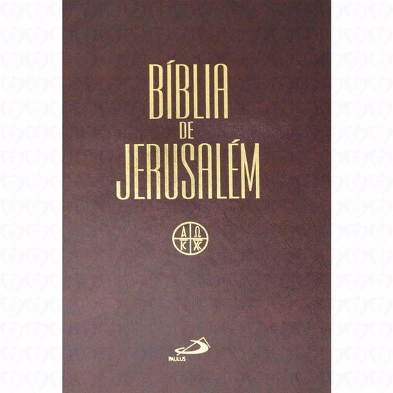 Bíblia De Jerusalém Letra Grande Púlpito - 28 Cm De Altura