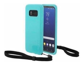 Forro Protector Goma Samsung Galaxy S8 Incipio Turquesa Nuev