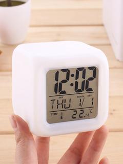 Reloj Cubo Luminoso Despertador Temperatura Zona Alto Rosario Blaster Pc