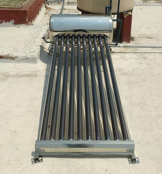 Calentador Solar 10 Tubos Estructura Corta. Meses Sin