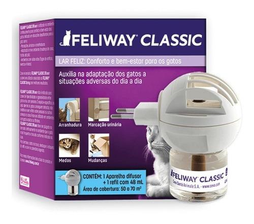 Feliway Classic Ambientador - Ceva (difusor + Refil 48 Ml)