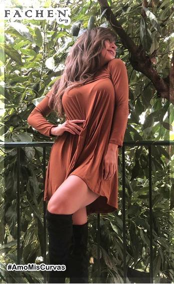 Vestido Linea A Camel M06