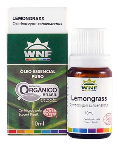 Óleo Essencial Lemongrass Orgânico Wnf - 10ml