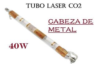 Tubo Láser Co2 40w Cabeza De Metal Cnc 700mm Corte Grabado