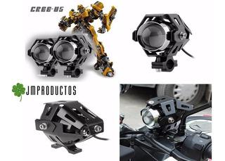 Pack 02 Focos Neblinero Led Para Moto Transformers