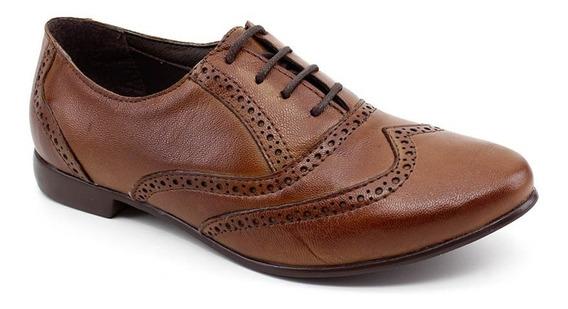 Sapato Oxford Chaville 240125 Couro Caramelo