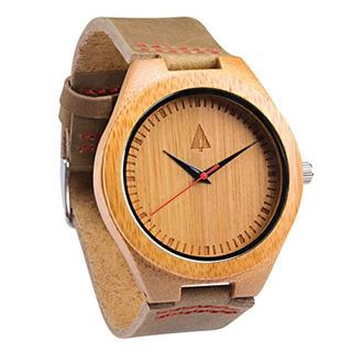 Treehut Reloj De Bambú Madera Para Hombre