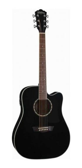 Guitarra Electroacustica Washburn Ad-5ce Cuerdas De Acero