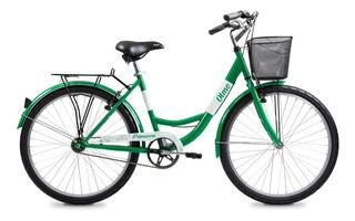 Bicicleta Olmo Dama Primavera Con Canasto Rodado 26