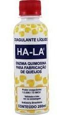 Coalho Líquido Ha-la 200ml - Coagulante P/ Produção Queijos