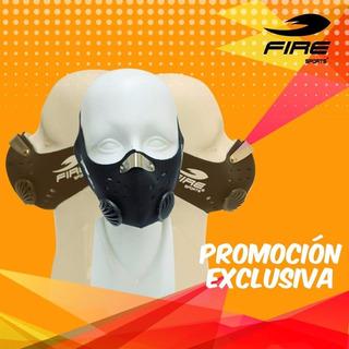 Kit: 3 Basic Champions Mask Mascara Entrenamiento Fire Sport
